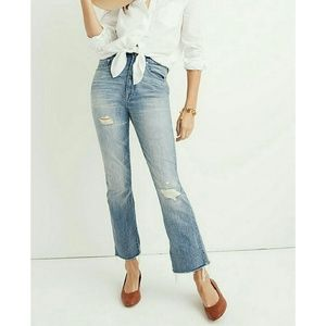 Madewell Rigid Demi boot crop ankle High rise